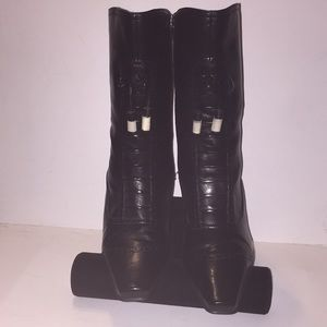 NEW Liz Claiborne Flex Black Vegan Leather Boots